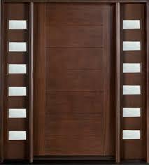 Door Design Modern Front Door Design Single With 2 Sidelites Solid Mahogany
