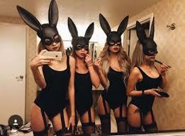 Piece Halloween Costumes Swimwear Garter Bunny Ears Halloween Halloween Costume