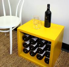 storage minimalist wooden wine rack cube compact design in natural