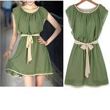 chiffon dress modern peasant style emerald green