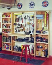 Woodworking Plans Garage Shelves by 24 Best Workshop Ideas Images On Pinterest Woodwork Workshop