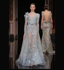 turkish wedding dresses blue appliqued arabic evening gown party wear turkish wedding