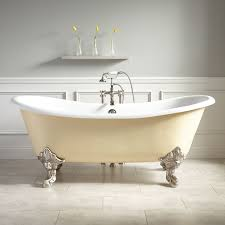 bathroom cast iron clawfoot bathtubs with pretty faucet for