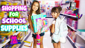 shopping for school supplies at justice target back to