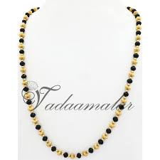 simple gold plated chains traditional india black chain