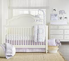 Lavender And Grey Crib Bedding Wendy Bellissimo 4pc Nursery Bedding Baby Crib