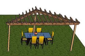 Pergola Blueprints Free by Medium Diy Deck Plans