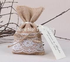 burlap wedding favors 30pcs vintage wedding candy bags jute hessian wedding favors bag