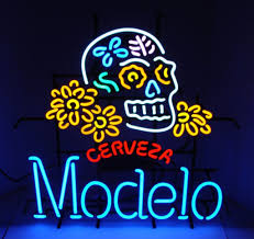 neon bar lights for sale cerveza modelo dia de los muertos skull neon sign real neon light
