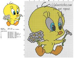 baby tweety bird daisies flowers looney tunes character free