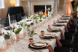 unique black décor elements for your wedding reception inside
