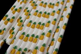 Tropical Party Themes - pineapple watermelon straw paper strawberry fruit tropical party