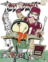 Gator Meme - uf gators meme custom print fsu vs florida sports pinterest