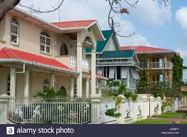 colonial houses georgetown guyana stock photo royalty free