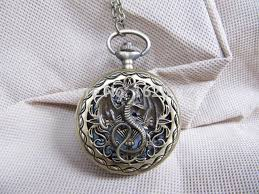 pocket watch necklace wholesale images Wholesale pocket watch necklace chain steampunk dragon pocket jpg