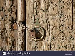 decorative wood carvings woden door with decorative wood carvings of djuma mosque in