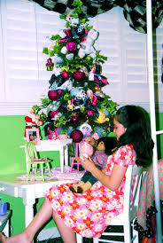 good small decorated artificial christmas trees on decorations