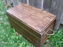Patio Cushion Storage Bin by Wood Storage Chest Make Your Own The Project Lady