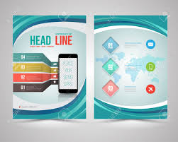 flyer graphic design layout trendy graphic design layout with smart phone concept vector