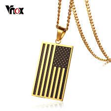 Engravable Dog Tags For Men Aliexpress Com Buy Vnox American Usa Flag Dog Tag Free Engraving