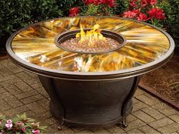 Firepit Table Oakland Living Moonlight Aluminum 48 Gas Firepit Table With