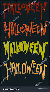 spooky halloween lettering scary grunge halloween text font stock vector 105643319 shutterstock