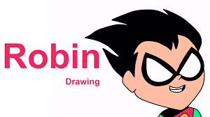 robin drawing draw robin teen titans