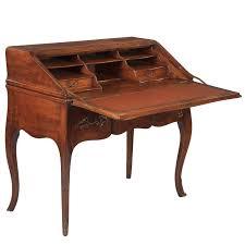 louis xv style walnut drop front secretaire desk 1920s for sale
