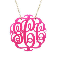 acrylic monogram necklace moon and lola acrylic script monogram necklace