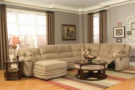 Sectional Sofa With Recliner And Chaise Lounge by Beige Microfiber Cozy Sectional W Reclining Chaise