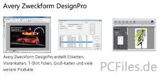 zweckform design pro avery zweckform designpro jp freeware