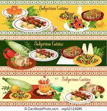 cuisine bulgare cuisine bulgare menu restaurant dîner bannière bulgare
