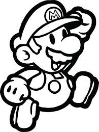 Mario Printable Coloring Pages Eliolera