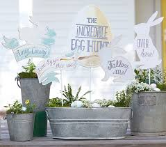Easter Egg Hunt Garden Decorations by Easter Egg Hunt Sign Set Pottery Barn Kids