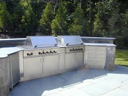 Outdoor Kitchen Furniture by Stainless Steel Outdoor Countertops Brooks Custom