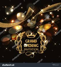 Shop Opening Invitation Card Grand Opening Invitation Card Gold Abstract Stock Vector 397272793