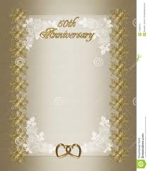 50th wedding anniversary invitation template royalty free stock