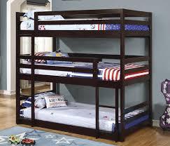 Wyatt Twin Size Triple Bunk Bed - Three bunk bed