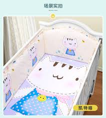 Custom Crib Bedding Sets Promotion 5pcs Baby Cradle Crib Bedding Set Crib Set Custom