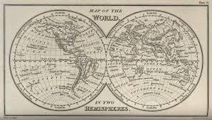 World Map With Hemispheres by Here And There Two Hemispheres