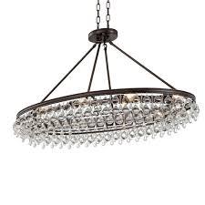 Crystorama Crystorama Calypso 8 Light Crystal Teardrop Vibrant Bronze Oval