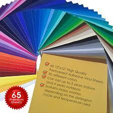 amazon com permanent adhesive backed vinyl 65 sheets primecuts