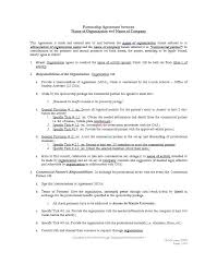 partnership agreement template business partner agreement
