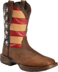 durango men u0027s patriotic square toe western boots brown hi res