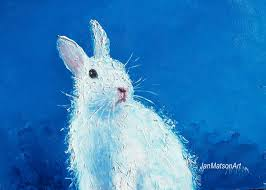 Bunny Rabbit Home Decor Rabbit Painting Easter Bunny Framed Nursery Art Animal