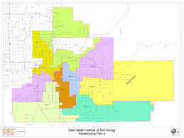Map Of Tempe Arizona by Sending Districts East Valley Institute Of Technology