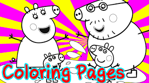 peppa pig coloring pages for kids coloring with paints peppa pig