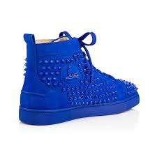 louis spikes men u0027s flat electric suede men shoes christian