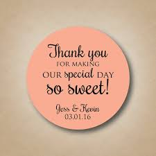 Stickers For Favors thank you stickers wedding favor stickers special day so sweet