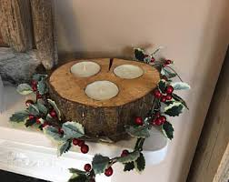 tree trunk candles etsy